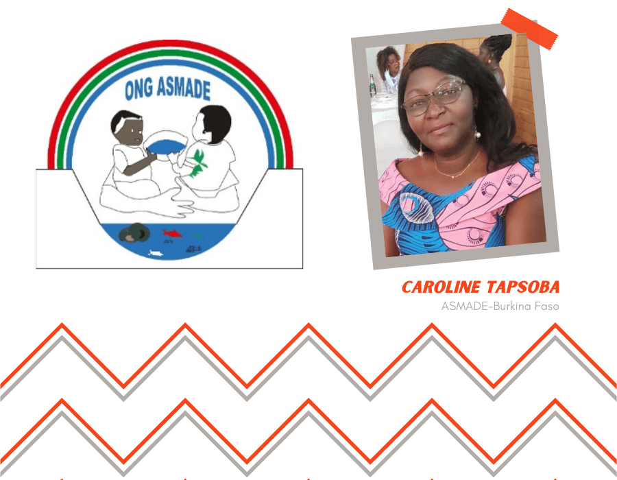 Caroline Tapsoba + logo Asmade